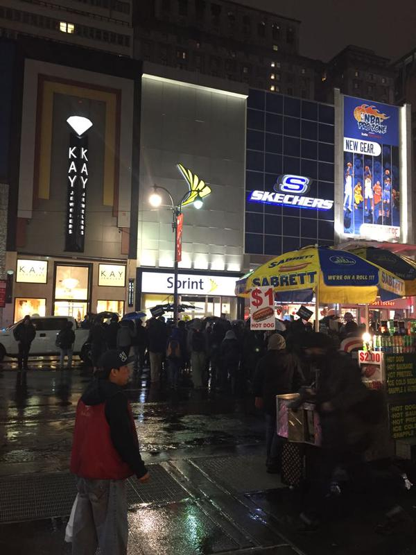 Protesters outside of Macy's now in the streets. NYC EricGarner