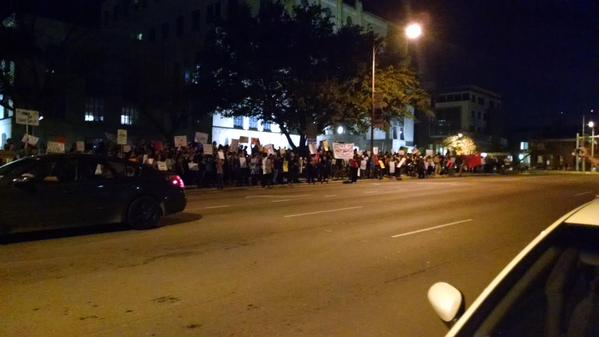 Speak outs starting. 'Every City has a MikeBrown an EricGarner and a LarryJackson' Austin, TX