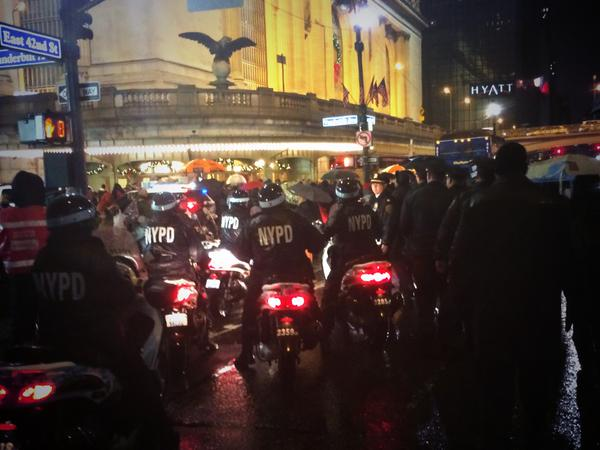 Line of NYPD On Motorcycles