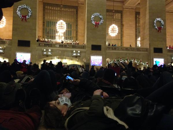 Die-in at GrandCentral