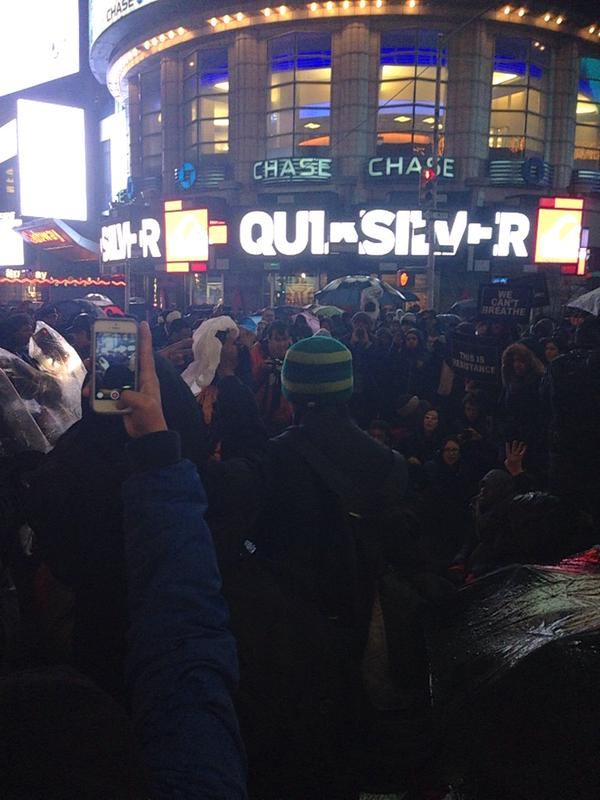 Shut down 42nd and 7th.  EricGarner nycprotest