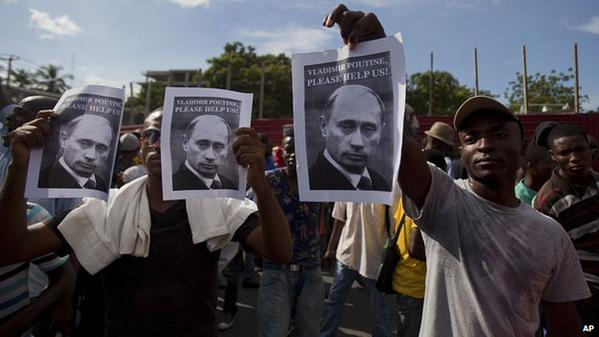 In Haiti protesters calling for Putin's help