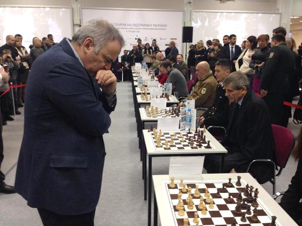 Simul in Kyiv for veterans and wounded soldiers today, on Ukrainian Armed Forces Day.