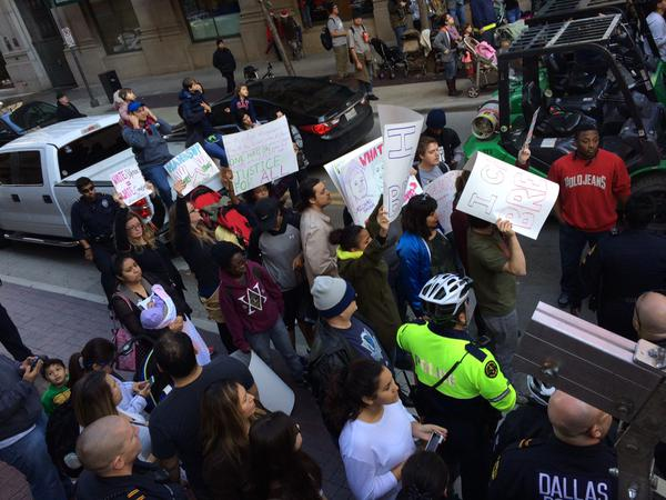 EricGarner small protest in Dallas