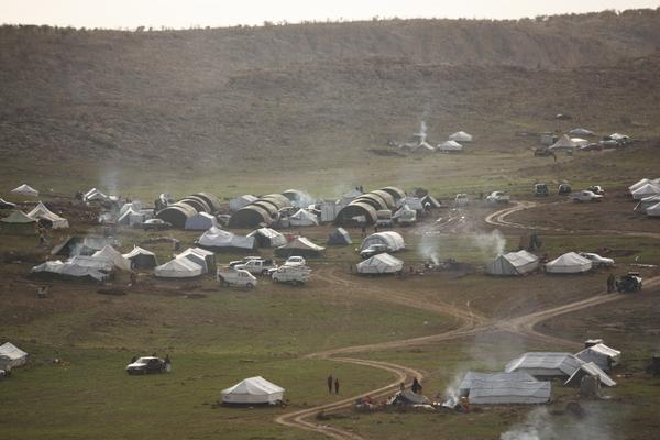 100s of Yazidi camps scattered over Sinjar mountain in need of help, especially this winter Iraq