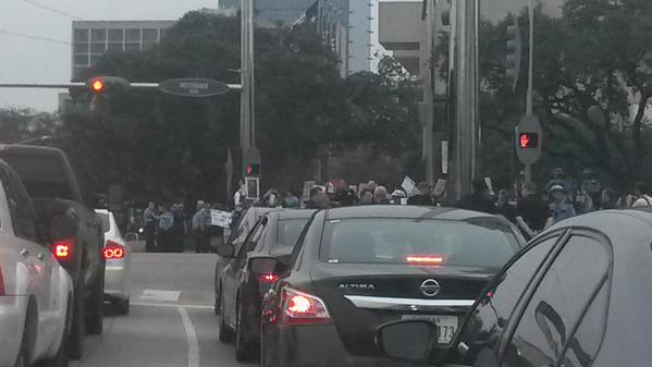 EricGarner Houston protesting.