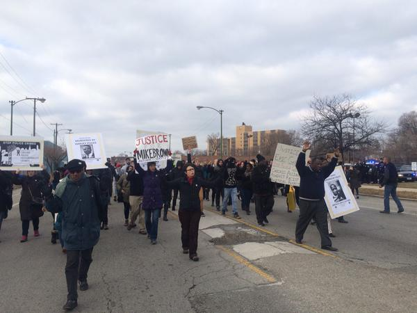 Protest in Chicago Cottage/71st