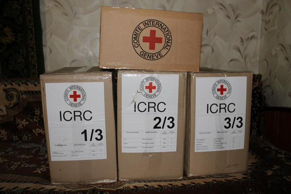 Lisichansk. Help from @ICRC for migrants and local lost their homes