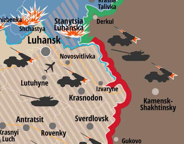7 tanks crossed into Ukraine from Russia via uncontrolled Izvaryne directed to Luhansk