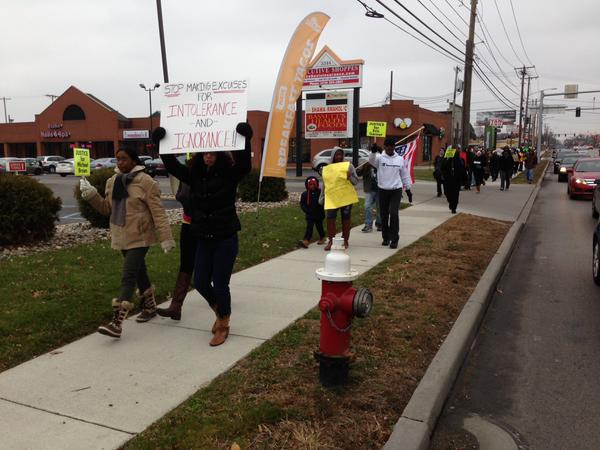 About 150 people turned out in Toledo today 2 March & Protest