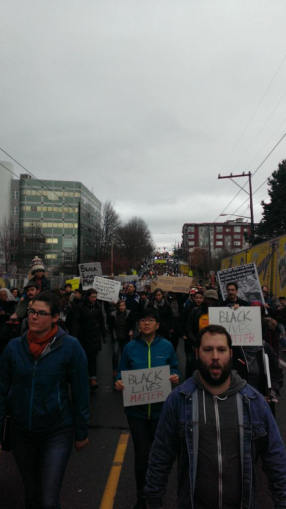 Protest march in Seattle
