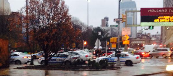 Extra police presence by Holland a Tunnel but no sign of protesters EricGarner NYC