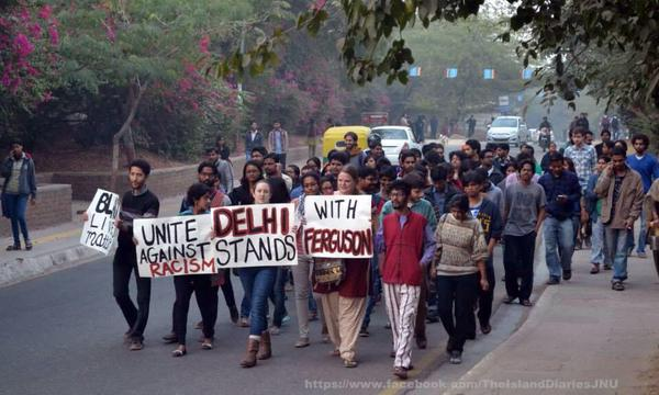 India joins cities across America and the world in support of EricGarner. Ferguson