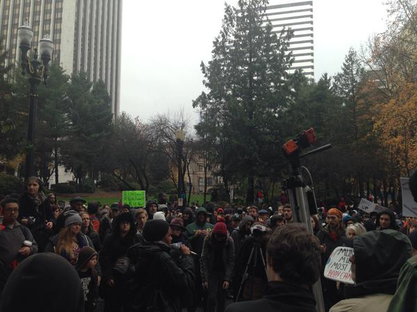 At the Portland rally for EricGarner ICantBreathe