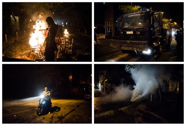 Clashes in central Athens tonight