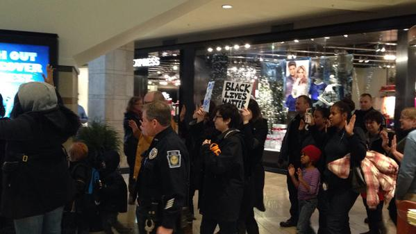 Dozens protest at Ross Park Mall: EricGarner