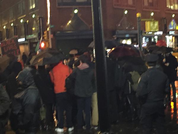 Crowd confronting police at Union Square, New York, NY EricGarner