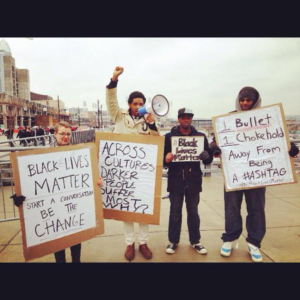 Cincinnati, OH, B4 the Bearcats game w/ UC Students Against Injustice shutitdown