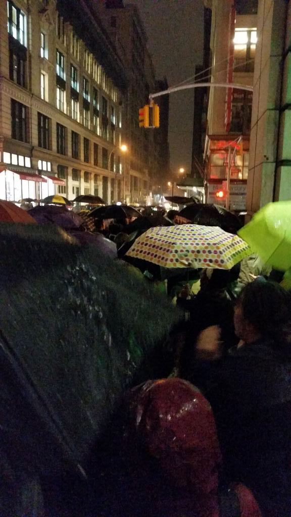 EricGarner protest at 22nd & 6th of NYC