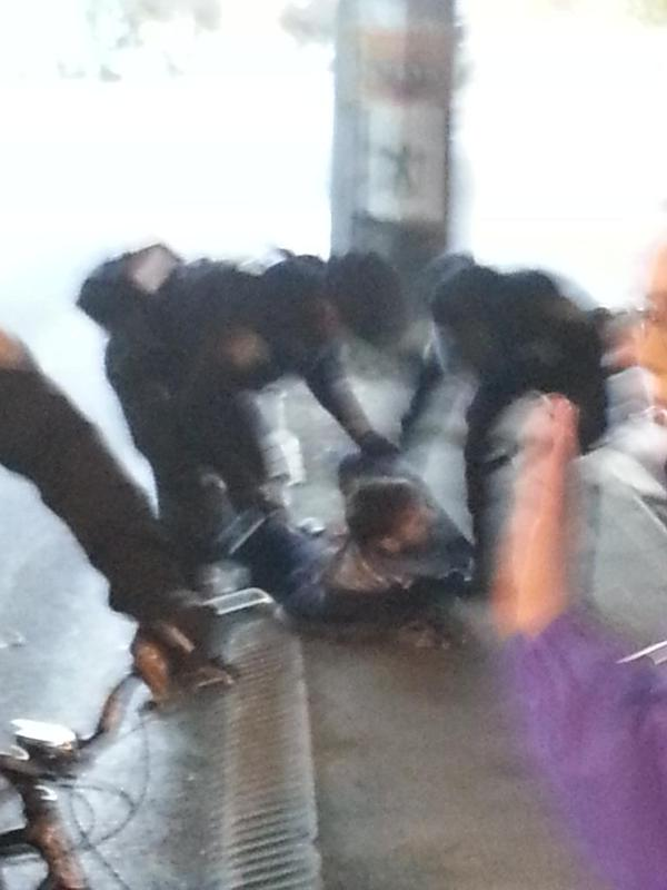 This man got slammed /hard/. Seattle BlackLivesMatter