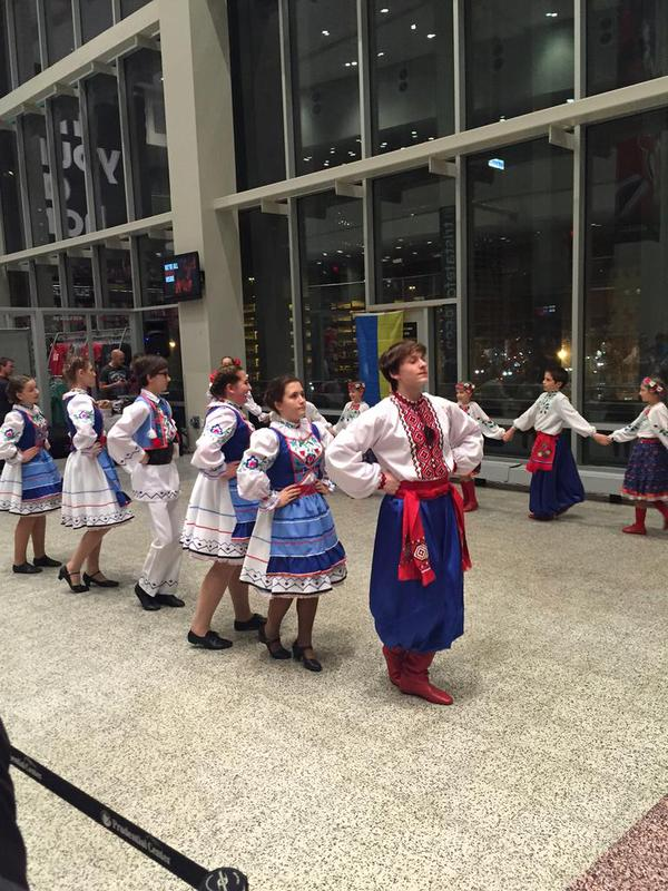 It's Ukrainian Night at @PruCenter Newark, NJ,