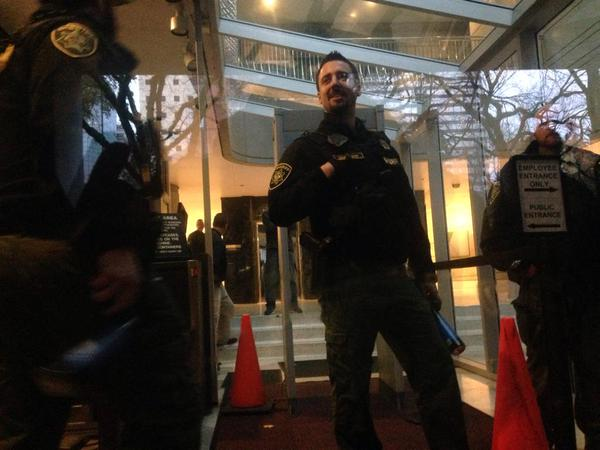 Cops coming out and brandishing pepper spray now. Portland