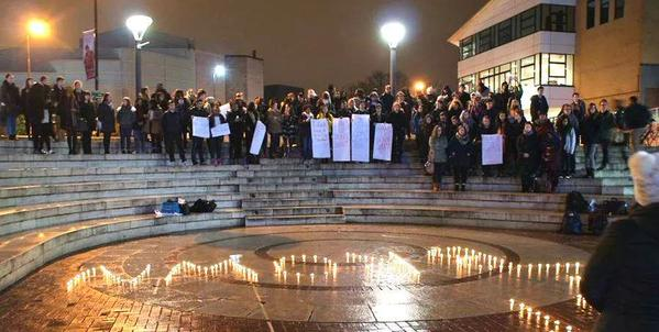 UniversityofWarwick in  Coventry, United Kingdom protest in honor of MikeBrown