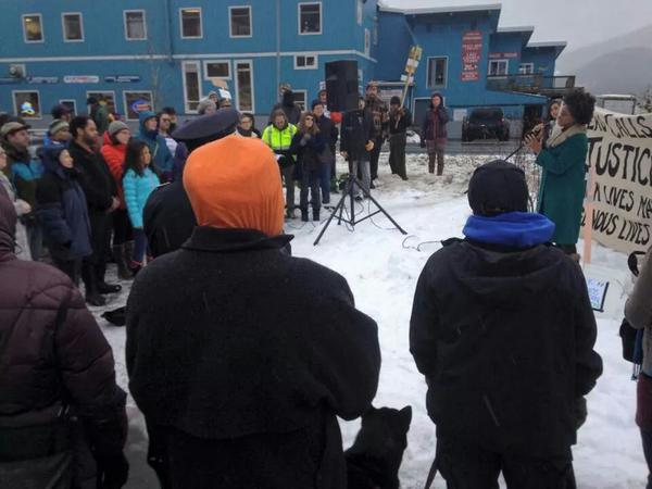 Protest/rally in Juneau, Alaska