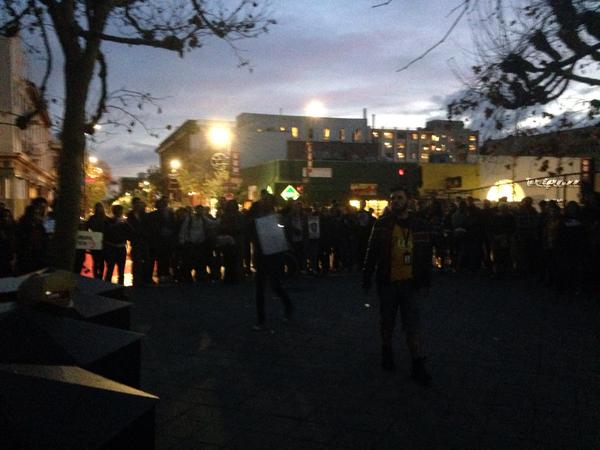 Group gathers in Berkeley what do we march for? Justice EricGarner protest