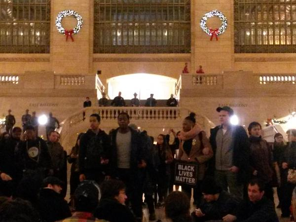Grand Central protest turns into powerful speak-out