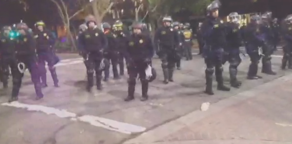 A lot of police still out  in Berkeley, CA