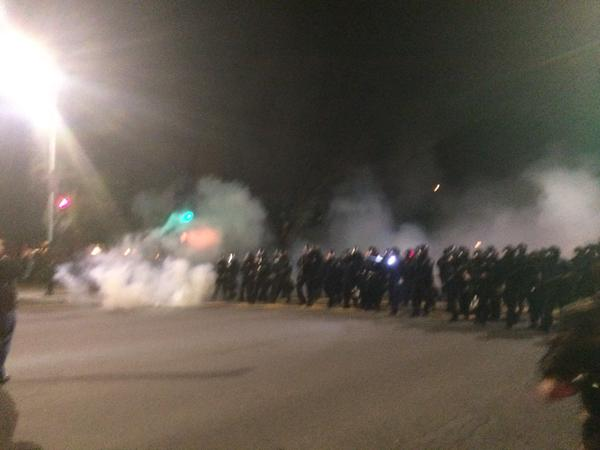 Tear gas in Berkeley EricGarner