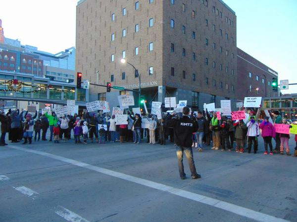 ShutItDown Broadway in front of Rosa Parks Pavilion, Rochester, MN - Saturday PM