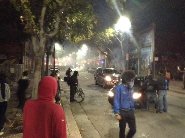 Telegraph avenue engulfed in teargas as Berkeley protests continue, cops fire more canisters