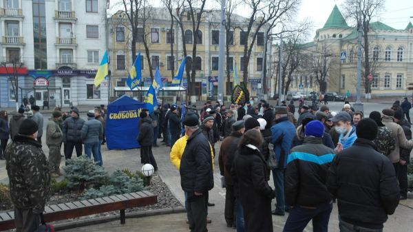 Residents of Vinnitsa are gathering for Viche