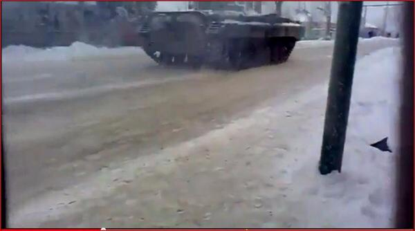 Russia BMP-2 cross over border into Ukraine pass Sverdlovsk Luhansk