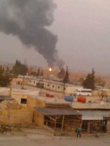Moments of the massive explosions by IAF in Dimas targeting military sites near Damascus, Syria