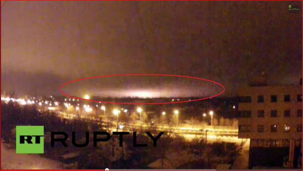 Massive explosions taking place at Donetsk Airport tonight