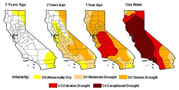 California's current drought is the worst in at least 1,200 years