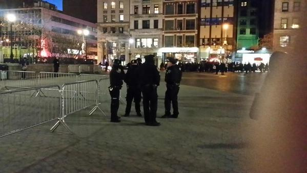 Police are gathering near EricGarner protest at UnionSquare NYC