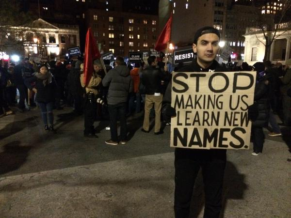 ShutItDown demonstrator in Union Square