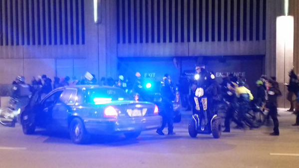 Bunch of cops just flew down the street to cut ppl off, almost ran several over. chicago
