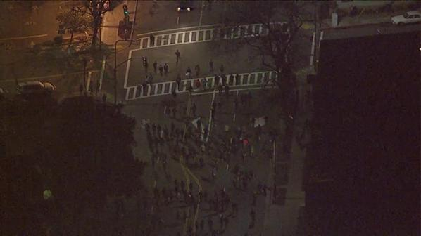 Berkeley protesters continue to march. 10:28pm