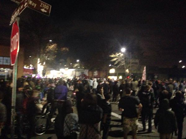 Crowd remains on Shattuck