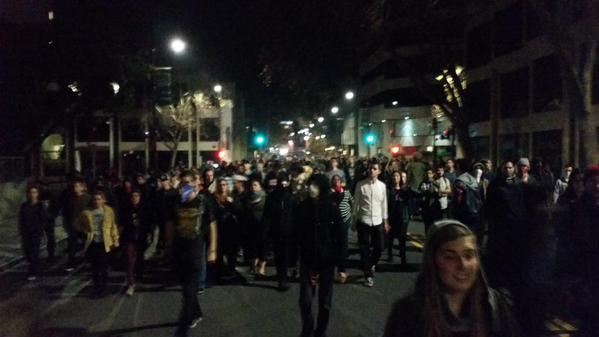 March now headed to city hall. Berkeley