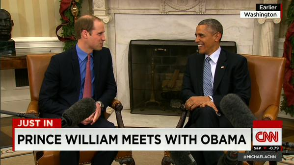 Prince William meets with President @BarackObama at the White House