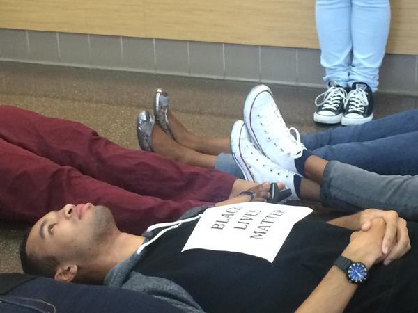 University of South Florida students hold a die-in in support of MikeBrown EricGarner