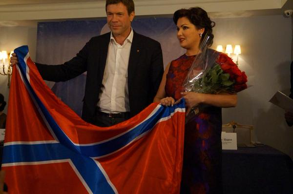 New face of Austrian Airlines, singer Anna Netrebko promotes militants, which shooting down a passenger plane