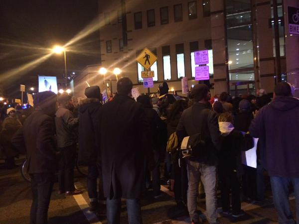 Rally in front of Columbus, OH Police Department
