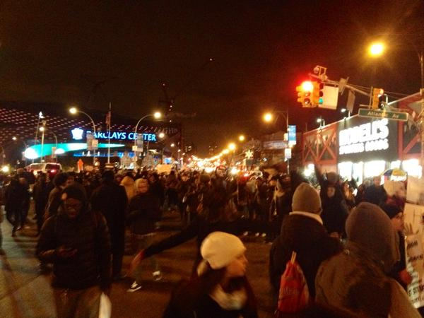 Brooklyn NYC protesters are on streets now